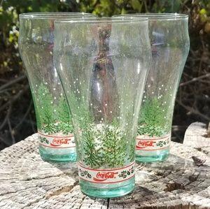 Set of Winter Collectors Coca Cola Glasses